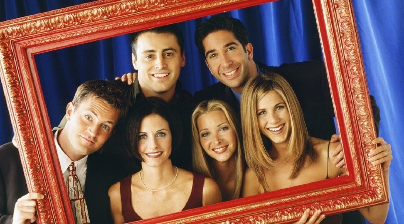 The one with the vamos al cine a ver Friends(WB)
