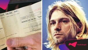 Descubren un cheque con royalties de Kurt Cobain
