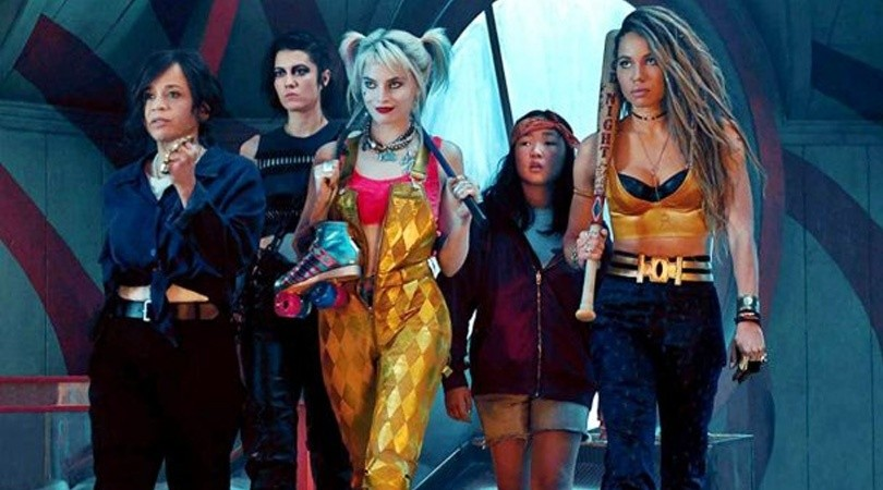 El elenco de Birds of Prey interpretando a Reneé Montoya, Huntress, Harley Qunn, Cassandra Cane y Black Canary