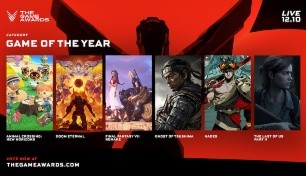 Se anunciaron los candidatos a Juego del Año de The Game Awards